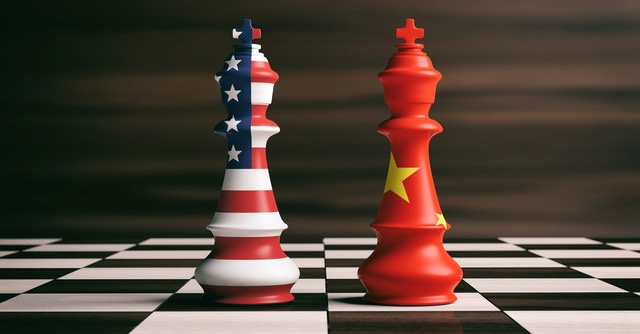 China USA Chess Pieces