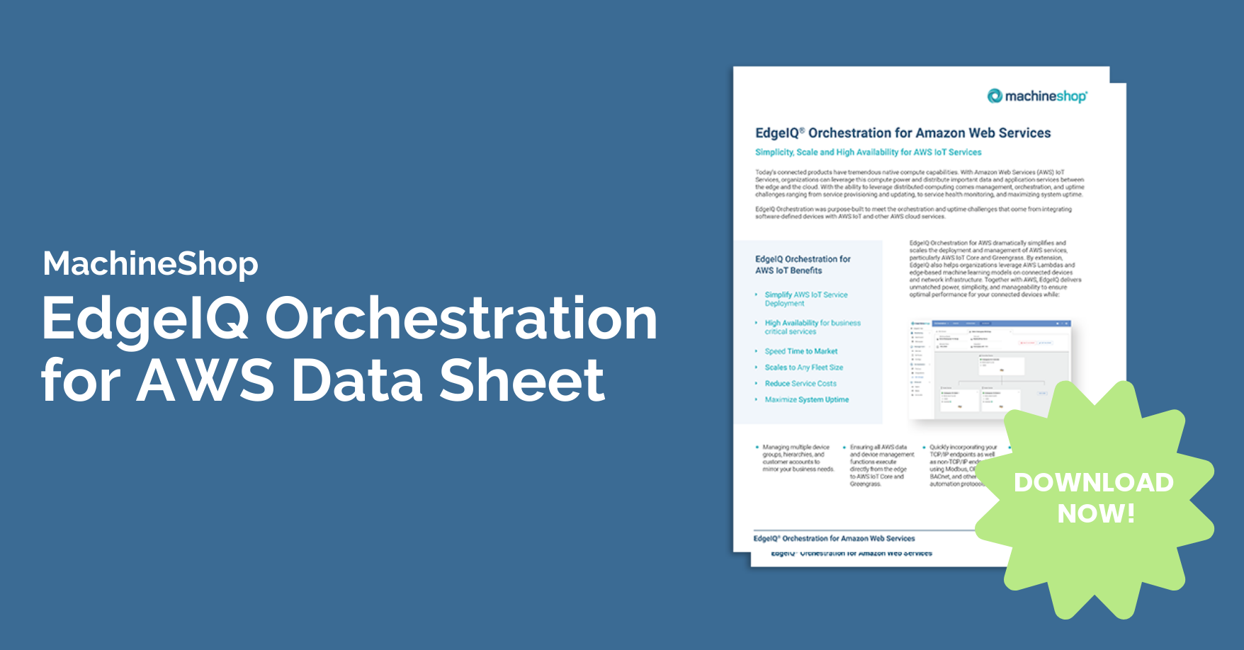 Orchestration for AWS Landing Page Banner